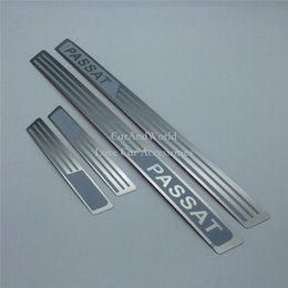 Wholesale Door Sill Vw - For Volkswagen VW Passat 2011 Door Sill Plate Protector Welcome Pedal Cover Trim Stainless Steel Stickers Car-styling Accessories