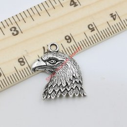 Wholesale Diy Eagle - Antique Silver Tone Eagle Birds Charms Pendants for Jewelry Making DIY Handmade Craft 22x19mm 20pcs lots D312 Jewelry making DIY
