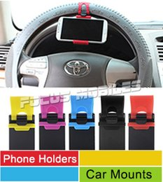 Wholesale Universal Cell Phone Belt Clip - Universal Car Streeling Wheel Belt Clip Smart Bike Mount Phone Holder For iPhone 6S 4S 5S 6 Plus Galaxy S6 S5 Note 4 3 M9 Cell Phone GPS