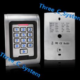 Wholesale Entry Metal Door Access Control - IP65 Waterproof Access Control Keypad Outdoor RFID 125Khz Metal Card Reader PIN Door Entry Security System