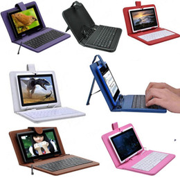 Wholesale micro usb dust - Wholesale 7 8 9 9.7 10.1 inch Leather case with Micro USB keyboard for apad epad ZT-180 X220 Flytouch tablet Case