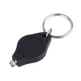Wholesale Small Led Keychain Light - Fashion Mini Flashlights Key Chain Flashlights Cheap UV Money Detector LED Keychain Light Multicolor Small Gift Free Shipping