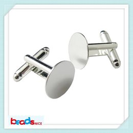 Wholesale Wholesale Mens Cufflinks - Wholesale-Beadsnice ID3424 fashion design cufflinks for mens French cufflink backs free shipping 16mm blank cuff links high quality