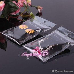 Wholesale Display Cards Bag - Earrings Plastic Bags with Packing Cards 3.7*5.2cm Earring Plastic with Flannelette earrings display packing card wholesale 0018-100PACK