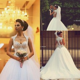 Wholesale Simple Winter Ball Dresses - 2015 Sweetheart Saudi Arabic Backless Winter Wedding Dresses Zipper Back Appliques Beaded Bodice Sheer Ball Gown Organza Bridal Gowns