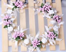 Wholesale Blue Crystal Wedding Headpiece - 2015 Luxury New Design Bridal Accessories Bridal Wedding Handmade Faux Pearl Wedding Hair Jewelry Beads Lace Flower Headpieces Bridal