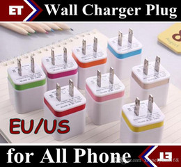 Wholesale Mini Plug Usb Wall Charger - 50PCS 2.1A Wall Charger Plug US EU Dual USB AC Power Adapter 2 ports for IPAD mini air Ipod iphone 4 4s 5 5s 6 plus for Samsung HTC JE7