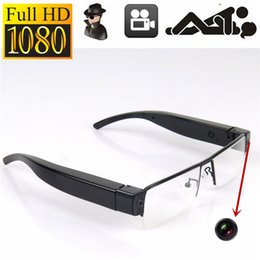 Wholesale Glass Hd Cam - HD 1080P Spy Glasses Camera Mini Camcorder Pinhole Camera Hidden Digital Video Recorder Eyewear Cam MINI DV