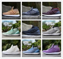 Wholesale Colour Lace - Cheap Ultra Boost ATR Mid Running Shoes Burgundy Oreo Triple Black High Quality UltraBoost Primeknit Men Womens Outdoor Sneakers 11 Colour