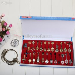 Wholesale lucy cosplay - Wholesale-Fairy Tail Lucy 22pcs set Cosplay Key Keychain Scale & Free Pink Tattoo Heartfilia sign of the zodiac gold Key