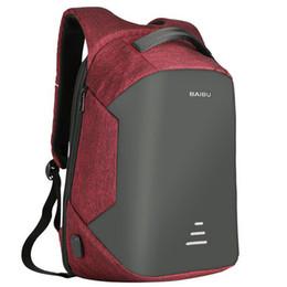 Wholesale Oxford Free - 2017 Urban Backpacks Men USB Charge Laptop Backpack Minimalist Fashion Anti-theft Backpack Casual Mochila Waterproof Travel Bag free shiping