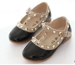 Wholesale Pink Dance Sneakers - Children Shoes Spring New Fashion rivet Bowknot Girls Princess Shoes Kids Soft Sneakers Girls Dancing Shoes Size 21-36