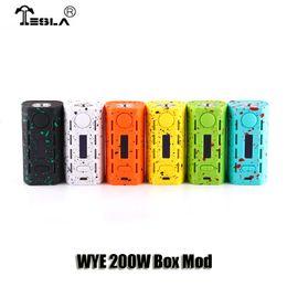 Wholesale Plastic Boxes Wholesale - 100% Original Tesla WYE 200W Box Mod VW TC Light Weight Dual 18650 Battery Mod For 510 Thread Atomizers