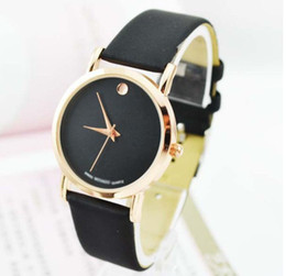Wholesale Womens Watches Free Shipping - Fashion Gold Luxury Leather Quartz Watches wrist watch Womens men Free Shipping Drop shipping