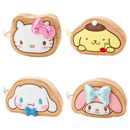 Wholesale Plush Cosmetic Bags - 2017 Kawaii Cute Hello Kitty My Melody Bow Embroidery Plush Cosmetic Bag For Make Up Women Storage Bag Makeup Pouch Case