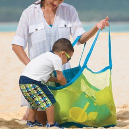 Wholesale family great - TFY Large & Portable Family Size Beach Mesh Bag Tote Organizer - Great for Toys, Balls and Beach Items