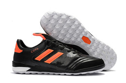 Wholesale Tf Shoes - New Mens Copa Mundial Team Astro Genuine Leather TF Shoes Copa Tango 17.1 TF IN Shoe Size 39-45