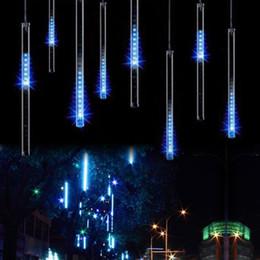 Argentina Luz de navidad 8pcs / set Tubo de nevadas 50cm Tubo de 30CM + Adaptador de corriente Lluvia de meteoros Lluvia Increíble Tubo de LED Cadena de luces de Navidad Árbol de decoración Suministro