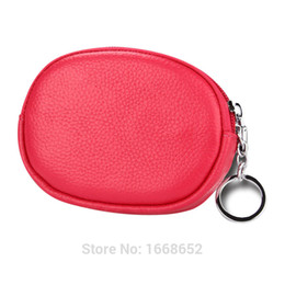 Wholesale Small Leather Pocket Change Holder - Wholesale- Genuine Leather Coin Purse Women Small Wallet Change Purses Money Bags Children's Pocket Wallets Key Holder Mini Zipper Pouch-5