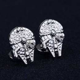 Wholesale Mens Shirts For Cufflinks - New Design Vintage Gothic Fighter Warship Cufflinks For Mens High Quality Retro Shirt Brand Cuff Buttons Cuff Links