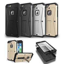 Wholesale Galaxy Note Holster Case - For Iphone 6 6s 7 plus galaxy s6 s7 edge Tank hybrid impact hard case with belt clip holster kickstand cases note 5 4