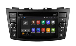 Wholesale Swift Gps Dvd - Android 4.4 Head Unit Car DVD Player for Suzuki Swift 2011 2012 2013 with GPS Navigation Radio Bluetooth USB AUX 4Core 1024*600