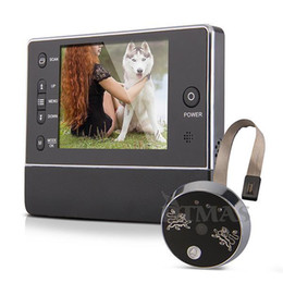 "Wholesale Lcd Peephole Door Viewer - 3.5"" Ultra bright TFT LCD display peephole camera digital video door viewer 120 degree wide degree night vision 120°3X ZOOM"