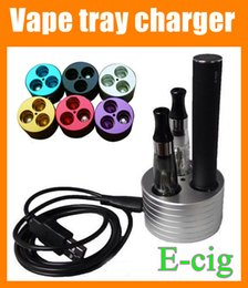 Wholesale Ego Battery Tray Charger - Ego Battery Charger Charging Base ego Stand holders ego charging holder Vape Tray for E-Cigarette EGO Series Battery with usb cable FJ012