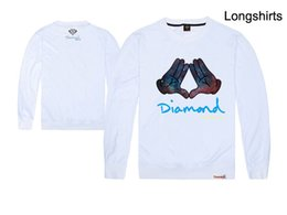 2019 capucha de diamante Al por mayor-2015 Nueva Diamond suministro de diamante sudadera patineta HARAJUKU con una capucha bolsillo sombrero camisa Diamante ropa de los hombres capucha de diamante baratos