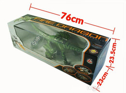 Wholesale Dinosaur Electric - 2015 New arrival Remote Control Dinosaur RC Fire-breathing Dinosaur Model Toys For Kids boys Birthday Xmas Gifts hot sale