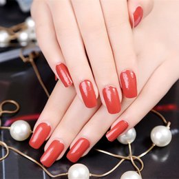 Wholesale Nail Stickers Solid - Salon Nail Art Decoration Stickers Decals nail tools Fashion Solid Candy Color Nail Sticker Foils Deco Parts Beautiful