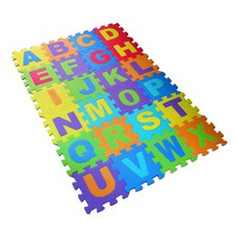 Wholesale Eva Puzzle Carpet - Wholesale- 36pcs set Baby Play Mat Soft EVA Foam Puzzle Playmat Floor Crawling Carpet Educational Toys for Children 15.5x15.5x0.9 cm