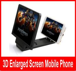 Wholesale Video Brackets - 3D Enlarged Screen Glass Magnifier Folding Portable Bracket Universal Mobile Phone 3D Video Folding Enlarged Screen Expander Stand.
