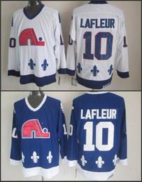 Wholesale hockey jersey guy lafleur - Wholesale Men's Ice Hockey Quebec Nordiques #10 Guy Lafleur Jerseys Blue White Hockey Jerseys,New Stitched Jersey,Size S-3XL