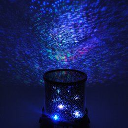 Wholesale Baby Lamp Projector - 2017 New Beautiful Design Colorful Cosmos Romatic Star Sky Master Projector Starry LED Night Light Lamp For Bedroom Cute Gift Baby Sleep