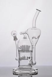 2019 flusso di vetro JM Flow Sci Bong in vetro per tubo d'acqua con irrigatore 20 braccio diffuso perc Oil Rigs con cupola e chiodo sconti flusso di vetro