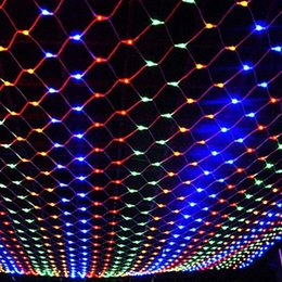 Wholesale Bright Christmas - LED 1.5M*1.5M 100 LEDs Web Net Light Fairy Christmas Home Garden Light Curtain Net Lights Net Lamps 110V 220V Super Bright Net String Light