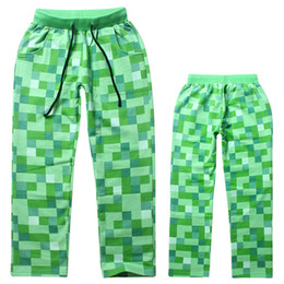 Wholesale Kids Cargo Trousers - New Green Plaid Spring Autumn Trousers Kids Casual Pants For Children Baby Boys 6-14 Years