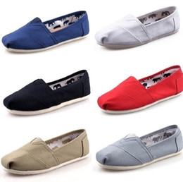 Wholesale Loafers Flats - DORP shipping 2015 Wholesale New Brand Women and Men Fashion Sneakers Canvas Shoes loafers Flats Espadrilles shoes Size 35-45