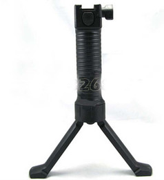 Wholesale Retractable Spring - Tactical Vertical Front Grip Fore-Grip with Retractable Spring Loaded Bipod for 25.4mm Rifle black
