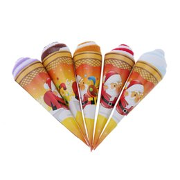 Wholesale Great Towels - Christmas ice cream shaped towel soft and cute two-tone originality towel great gift for return a salute at wedding