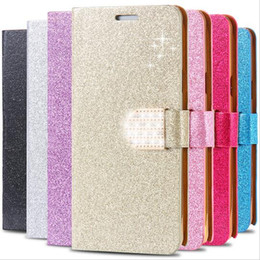 Wholesale S4 Cases Crystal Flip - New Wallet Crystal Bling PU Leather Case for Samsung Galaxy S4 5 6 Edge Note 2 3 4 5 Iphone 4S 5S 6S Plus Leather Flip Diamond Shining Cover