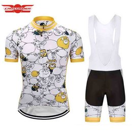 Wholesale Despicable Minion Set - Crossrider Despicable Me Minions Men Cycling Jersey Funny Bike Wear Clothes Short Bib set Maillot Roupa Ropa De Ciclismo Hombre Verano