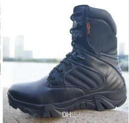классический мужчины лагерь сапоги качество Спецназ тактический пустыня боевой лодыжки лодки армия рабочая обувь кожаные ботинки снега от Поставщики обувь
