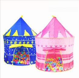 Wholesale Kids Foldable Play Tent - Ultralarge Children Beach Tent, Baby Toy Play Game House, Kids Princess Prince Castle Indoor Outdoor Toys Children tents Christmas Gifts ou