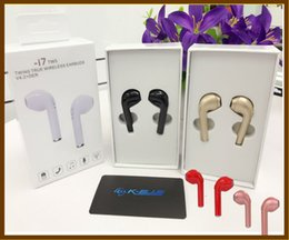 Wholesale Iphone Headphones Sale - 1pcs sale I7 TWS Mini Bluetooth EarBuds double Earbud Wireless Invisible Stereo I7 Headset With Mic For Iphone 8 Headphones