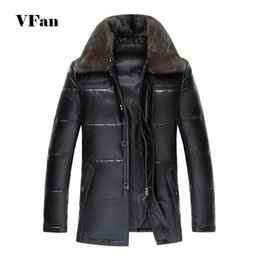 Wholesale Men S Euro Jackets - Fall-Men Winter Leather Jacket 2015 Fashion Brand Fur Collar Winter Thicken Warm High Quality Sheepskin Jacket Coat Z1942-Euro