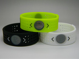 Wholesale Energy Power Band Bracelet - Free Shipping Silicone Bands Energy Power Basketball Wristbands Ion Hologram Bracelets (Only Bands Or Come With Retail Boxes)