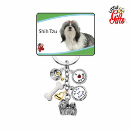 Wholesale Hot Dog Ornament - Wholesale-Hot Personality Yapi Carton Cute Dog Pet Strap Charm Key Chain Bag Pendant Car Ornaments Cat Pendant Dog Pendant L-YKC