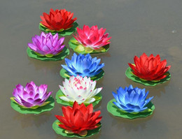 "Wholesale fish display tanks - 10pcs 6"" Artificial Silk artificial Lotus flower For Home Fish tank Pool Garden Decoration"